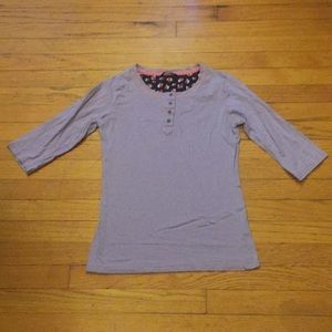Dnnx Jeans Pink & Purple Striped Tee Size Small
